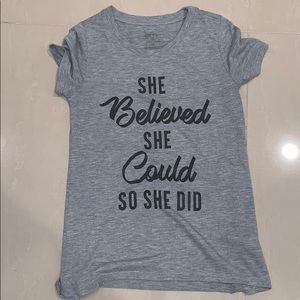 Women's Tee 'She Believed She Could So She Did' XS